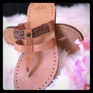 New - UGG Leather Sandals - flip-lops